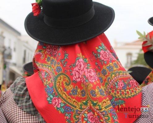 Lenço, chapéu e papoila
