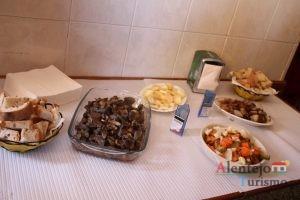 Comida na mesa