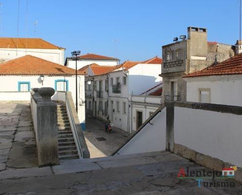 Escadas e rua