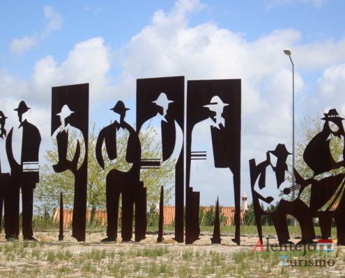 Escultura de ferro forjado
