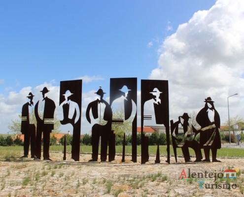 Escultura em ferro forjado