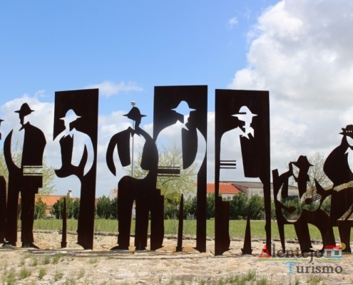 Escultura em ferro furjado