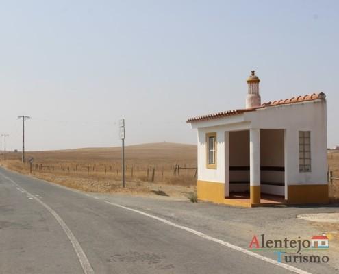 Estrada na planície - Rota CM1138 - Rota das Abetardas - Reserva da Biosfera da UNESCO