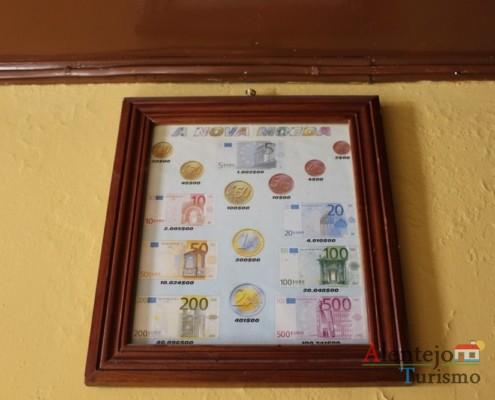 Conversão de euros em escudos - Taberna do Manel – Conceição – Concelho de Ourique