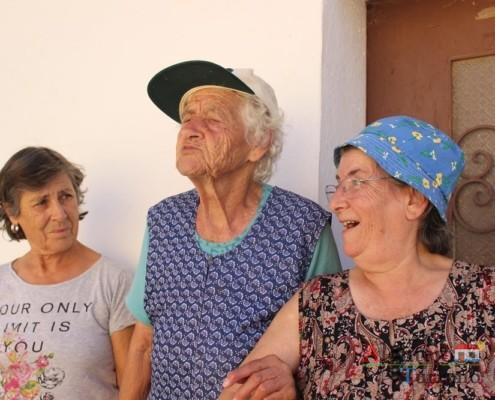 Uma das senhoras mais idosas do povoado - Gentes - Museu vivo – Grandaços – Concelho de Ourique - Alentejo