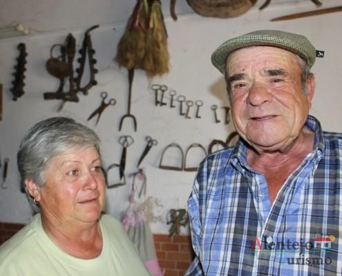 Sr. Manuel Ricardo e D. Clara - Museu em casa – Grandaços - Ourique - Alentejo