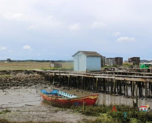 Casas dos pescadores - Cais Palafítico da Carrasqueira – Concelho de Alcácer do Sal - Alentejo
