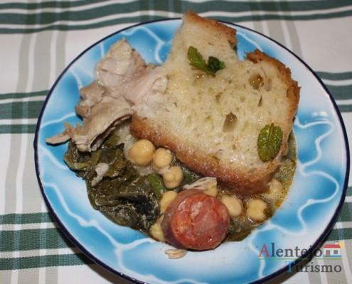 Sopas; jantar de acelgas; Alentejo; AlentejoTurismo
