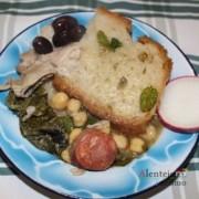 Sopas com rábano e zeitonas; jantar de acelgas; Alentejo; AlentejoTurismo