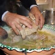 Açorda gigante; jantar do Grupo de cantar os Santos Reses; Barbacena; Concelho de Elvas; Alentejo; AlentejoTurismo