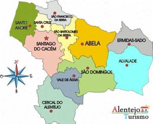 Concelho de Santiago do Cacém - Alentejo - Portugal - AlentejoTurismo